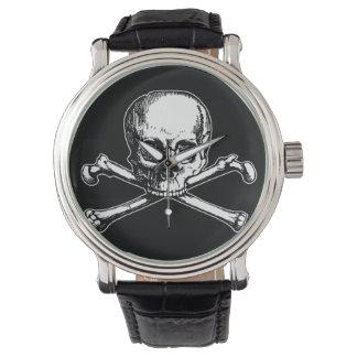 Cráneo y bandera pirata relojes de mano