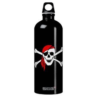 Cráneo y bandera pirata Rogelio alegre