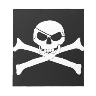 Cráneo y bandera pirata - Rogelio alegre Blocs De Notas