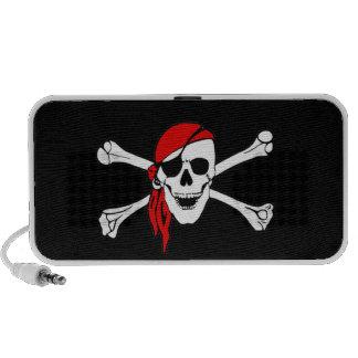 Cráneo y bandera pirata Rogelio alegre de bandera Notebook Altavoz