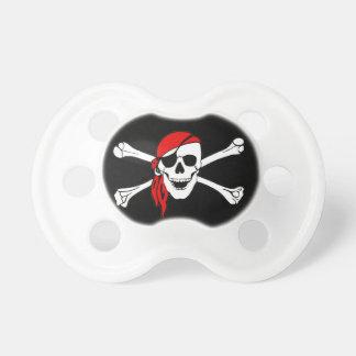 Cráneo y bandera pirata Rogelio alegre de bandera  Chupetes De Bebe