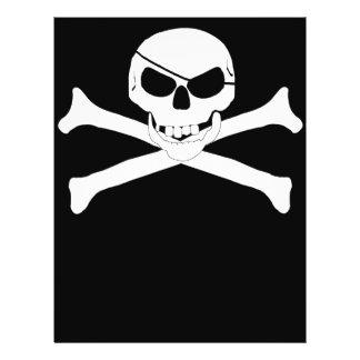 Cráneo y bandera pirata - Rogelio alegre