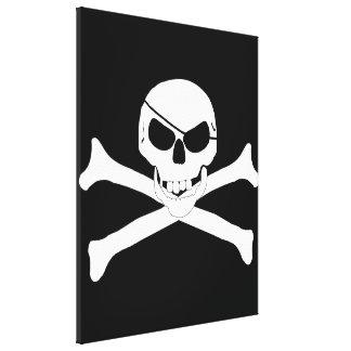 Cráneo y bandera pirata - Rogelio alegre Impresiones En Lona