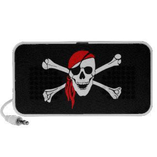 Cráneo y bandera pirata Rogelio alegre Mp3 Altavoz