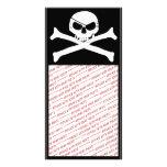 Cráneo y bandera pirata - Rogelio alegre Tarjeta Fotografica