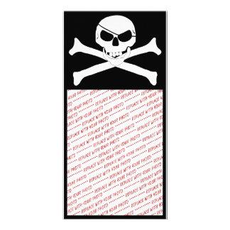 Cráneo y bandera pirata - Rogelio alegre Tarjeta Fotográfica