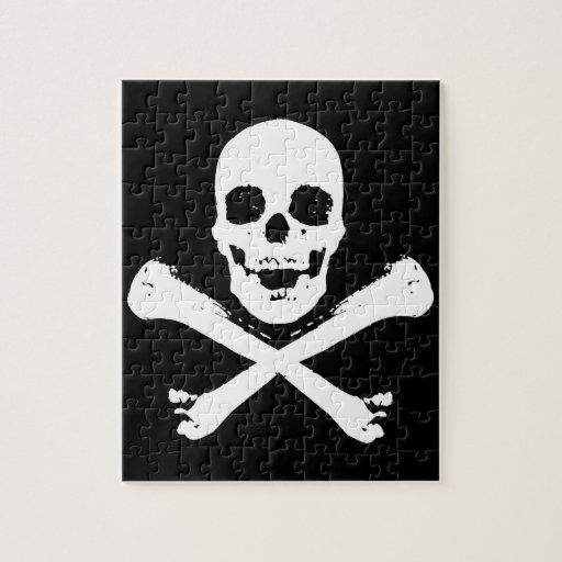 Cráneo y bandera pirata rompecabezas