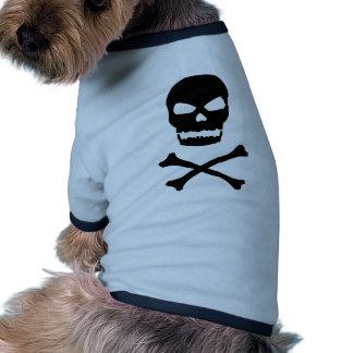 Cráneo y bandera pirata camiseta de mascota