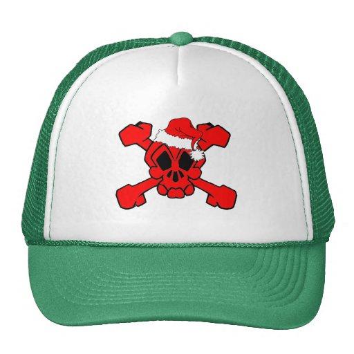 cráneo y bandera pirata santa gorras