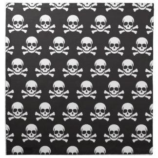 Cráneo y bandera pirata servilleta