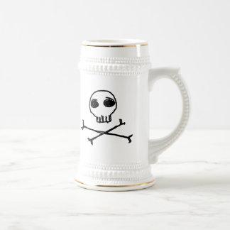 Cráneo y bandera pirata Stein Jarra De Cerveza