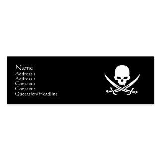 Cráneo y bandera pirata tarjetas de visita mini