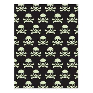 Cráneo y bandera pirata tarjetas postales