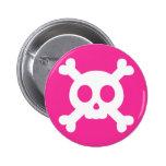 Cráneo y botón de la bandera pirata pin