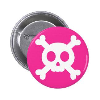 Cráneo y botón de la bandera pirata
