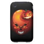 Cráneo y calabaza de Halloween iPhone 3 Tough Protector