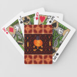 Cráneo y calabaza de los huesos cartas de juego