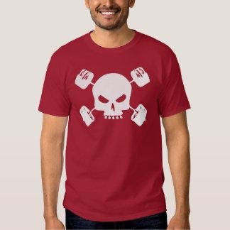 Cráneo y camisa cruzada del Barbell para los