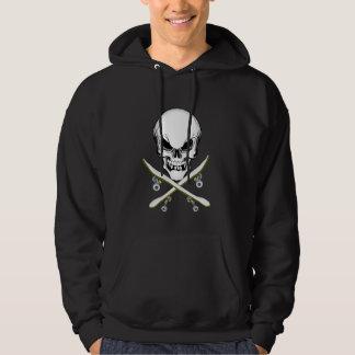 Cráneo y camisa de la sudadera con capucha de los