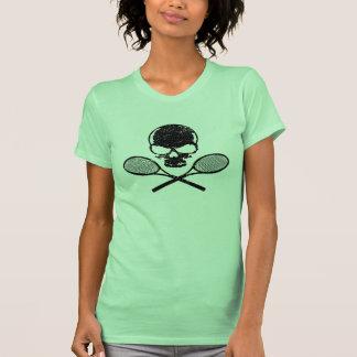Cráneo y camisetas sin mangas cruzadas de las seño
