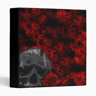Cráneo y carpeta color de rosa del arte del Grunge