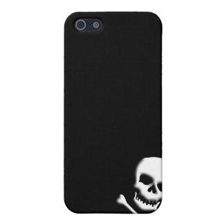 Cráneo y caso de la bandera pirata iphone4, llano iPhone 5 carcasa