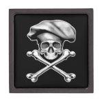 Cráneo y cocinero de la bandera pirata