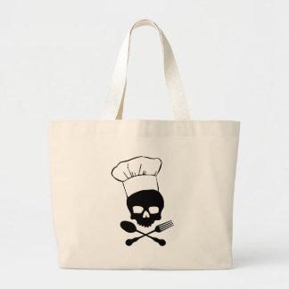 Cráneo y cocinero de la bandera pirata bolsa