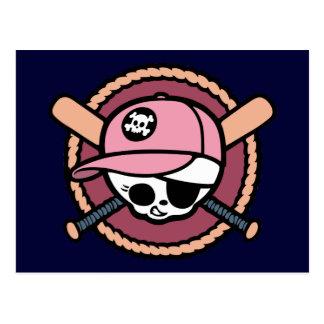 Cráneo y Crossbats - chicas del béisbol Postal