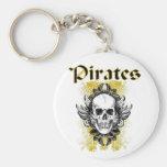 Cráneo y Crossbone de los piratas Llaveros Personalizados