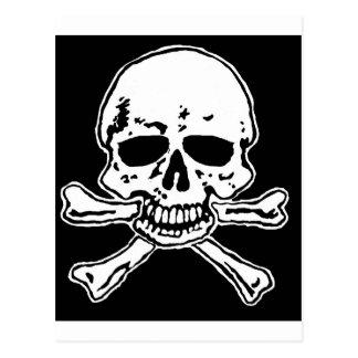 cráneo y crossbones. postal