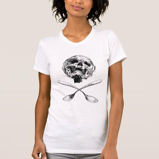 Cráneo y cucharas camisetas