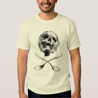 Cráneo y cucharas playeras