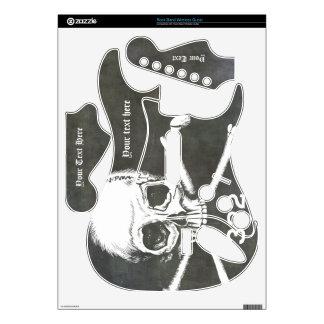 Cráneo y de los huesos piel adaptable AHORA Rock Band Guitar Skin