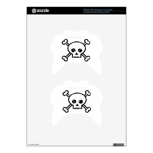 Cráneo y dibujo animado de la bandera pirata mando xbox 360 skins