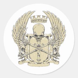 cráneo y diseño adaptable de las alas pegatina