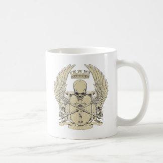 cráneo y diseño adaptable de las alas taza