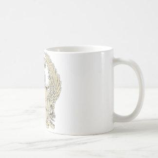 cráneo y diseño adaptable de las alas tazas de café