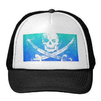Cráneo y espadas abstractos del pirata gorros