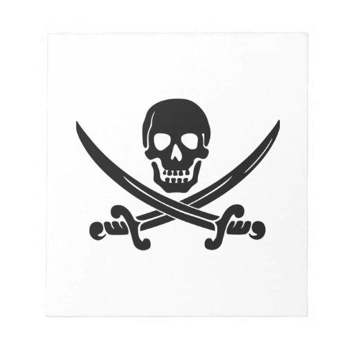 Cráneo y espadas bloc