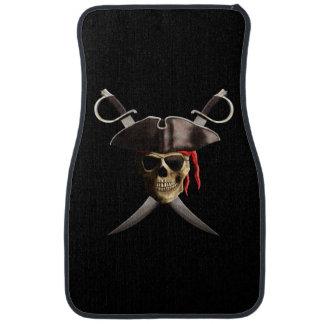 Cráneo y espadas del pirata alfombrilla de coche