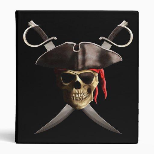 """Cráneo y espadas del pirata carpeta 1"""""""
