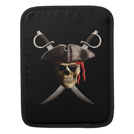 Cráneo y espadas del pirata manga de iPad