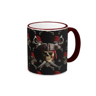 Cráneo y espadas del pirata taza de café