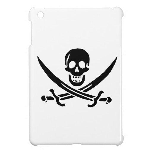 Cráneo y espadas iPad mini cárcasa