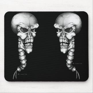 Cráneo y espina dorsal tapete de ratones