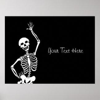Cráneo y esqueleto Halloween Impresiones