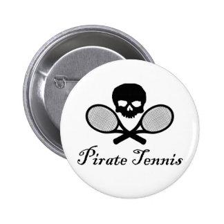 Cráneo y estafa del tenis del pirata pins