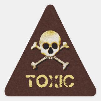 Cráneo y etiqueta de advertencia tóxica de