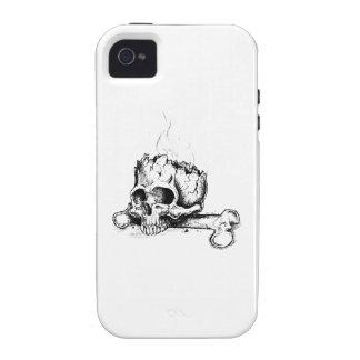 CRÁNEO Y FÉMUR Case-Mate iPhone 4 CARCASA